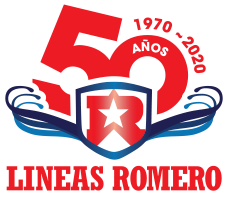 Logo 50 years of experience lineas romero